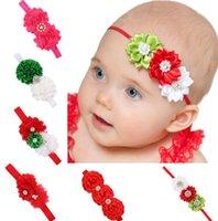 Rhinestone de la manera Hairband bebés lamentable de la gasa de las flores de las vendas de los niños accesorios para el cabello