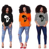 여성의 후드 티 크루 넥 긴 소매 풀오버 T 셔츠 패션 디자인 가을 봄 후드 티 스웨터 걸스 힙합 블라우스 D8403 탑