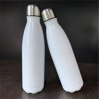 17oz كولا شكل زجاجات الحرارة التسامي الفولاذ المقاوم للصدأ زجاجة المياه مزدوجة الجدار قارورة معزول فراغ السفر القدح