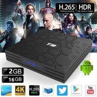 T9 TV 박스 안드로이드 9.0 RK3318 쿼드 코어 2 / 4GB ROM 16 / 32 / 64GB RAM 미디어 플레이어 지원 SmartTV Dual WiFi Bluetooth