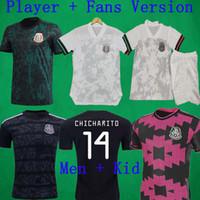 2020 Player Versão Jerseys 20 21 MÉXICO Soccer Jersey Chicharito LOZANO Layun camisas do futebol dos homens Fãs Versão uniformes do futebol Kit Crianças
