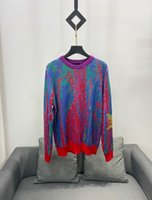 2020 designer women colorful knitted sweater trend 100% cotton fabric is soft, light and comfortable, close-fitting loose couple sweaters