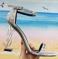 With Box Brand Sexy shoes Woman Summer Buckle Strap Rivet Sa...