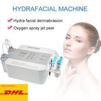 2 en 1 Hydra facial oxígeno Jet Peel HydraFacial dermoabrasión máquina de Aqua agua de limpieza de descamación de la piel de limpieza profunda Hydro Microdermabraszzh