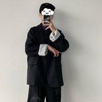 2020 Fashion Trend Blazer ocidentais Roupa Casacos de alta qualidade soltas terno dos homens Casacos Preto Cor Coats Plus Size S-2XL