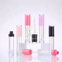 6 ml 8 ml Vacío brillo de labios caja de plástico Contenedores rosa púrpura Roes Lipgloss Oro Tubo botella cuadrada redonda de Contenedores Mini brillo de labios de Split