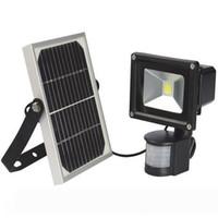 태양 광 LED 홍수 빛 거리 화이트 모션 센서 보안 야외 태양 스포트 라이트 조명기구 10W 20W 30W 50W 쿨 램프
