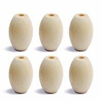 Mayforest 20pc / lot 17x25mm Dzi Design Holz Spacer Perlen Natürliche Baby-Holzperlen für Halsketten Armbänder Schmuckzubehör machen