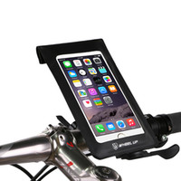 Universale 360 Rotataing bici del sacchetto del manubrio del telefono Custodia impermeabile rapido rilascio della bicicletta del sacchetto del telefono TPU touch screen del telefono in bicicletta clip