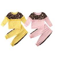 طفل ملابس مجموعة منقوشة مطبوعة طفل فتاة مقنعين قمصان السراويل 2 قطع مجموعات التمويه الأطفال الصبي تراكسويت الاطفال ملابس داخلية LSK469