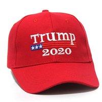 US AZIONE! Trump 2020 Keep America Grandi 2 Stili ricamo del cotone regolabile Hat traspirante berretti da baseball protezione esterna delle donne degli uomini FY6064