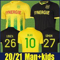 20 21 FC Nantes Футбольные трикотажные изделия домой Awaya Maillot de Nantes 2020 2021 Simon Louza Toure Blas Coco Coulibaly Football Jersey Men Kids Kit