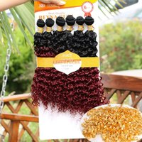 Caja de ganchillo trenzas Afro Kinky Rizado Fashion Braids Jerry Curly Hair Extensions Ombre Xpression Fraiding Hair Crochet Pelo Extensiones