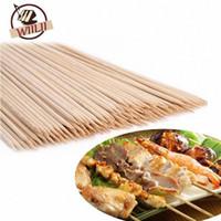 WIILII 80-90 PCS Bamboo Espeto Grill Shish Kabob Madeira Varas Churrasco Cozinhar Ferramentas para churrasco FG3O #