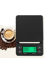 بالتنقيط القهوة مقياس مع الموقت الالكترونية المحمولة الرقمية المطبخ الميزان عالية الدقة 3kg و/ 0.1G 5KG / 0.1G JK2005XB