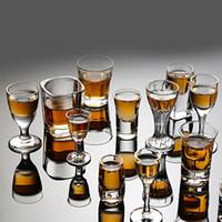 أطلق عليه الرصاص 6PCS كأس كريستال زجاج كأس الإبداعية الأرواح النبيذ الزجاج كأس نظارات حزب شرب الكؤوس ساحرة سميكة القاع