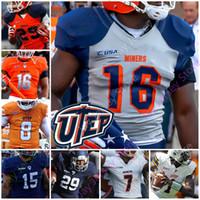 Özel 2020 UTEP Madenciler Futbol Jersey NCAA Koleji Kai Locksley Treyvon Hughes Jacob Cowing Justin Garrett Tre'shon Kurt Övgü Amaewhule