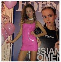 2020 femmes sexy cosplay en cuir noir sexy robe Latex Tenue Costumes Vêtements Lingerie PVC Catsuit Costumes pour chats sexuels