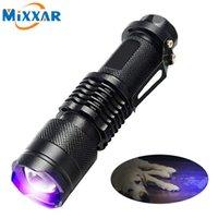 Taschenlampen-Fackeln-Fackel-LED-UV-Brenner-Licht ultravioletter Blacklight 395nm-Lampenbatterie für Marker-Checker-Erkennung