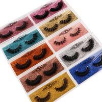 3d nerz Wimpern Augen Make-up falsche Wimpern weiche natürliche dicke gefälschte Eyelashe-Verlängerung Schönheit Werkzeuge 10Stall