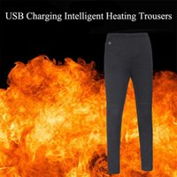 Winter Outdoor Hiking Ski Heating Trousers USB Charging High Waist Leggings Trousers Slim Thickened Heated Pants for Men Women