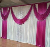 Wedding Evento 20X10ft de Fundo de casamento de luxo Cortina Lantejoulas cortinas gelo seda branca Backdrops Detalhes no Stage Fundos