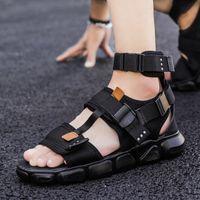 en el cuero romano sandalia geta s plage homme de zapatos sandalia Homens grandes sandalias gladiador de confort los hombres zapatos de vestir para hombre masculina