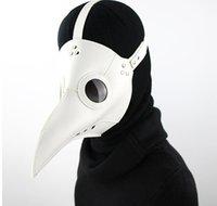 2020 NEUE Ankunft heißen Verkauf Halloween weißes Leder Beliebte Steampunk Pest Vogel Schnabel Tanzpartyschablone