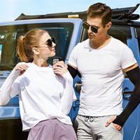 Fashion Outdoor Sports Ice Silk Sleeve Ice Cool Atem Sunscreen Hülsen-Sommer-Handschuhe für Männer Frauen Fahrtraining Armlinge