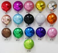 18inch Yuvarlak Folyo Metal Renkli Balon Bebek Düğün Doğum Günü Partisi Balonlar Şenlikli Parti Düzeni Dekorasyon Balon RRA3293