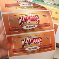 Dankwoods Cam Tüp Paketleme Pre Rulo Paketi Çıkartmalar Ile Ahşap Cork Borosilikat Ön Rulo E Sigaralar Buhar Tüpleri
