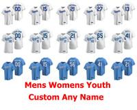2020 Baseball-Shirts der Frauen Mike Montgomery Jersey Adalberto Mondesi Jakob Junis Ian Kennedy Jorge Soler Danny Duffy Gewohnheit genähtes