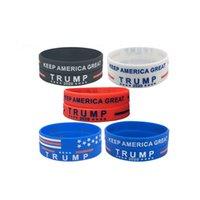 Donald Trump 2020 Silikon-Armband Keep America Große Armband US General Election Bangle Biden Silikon-Armband für Kinder Schmuck CCA12330