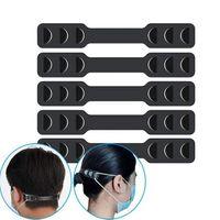 Máscara Facial Banda Extensores máscara cinta elástica Ajustador proteger sua orelha romper Dor Máscara Belt gancho ajustável Strap Extension EEA1781