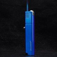 Jet Briquet Meule rechargeable coupe-vent Gaz Butane Flint Briquet torche bleue flamme allume