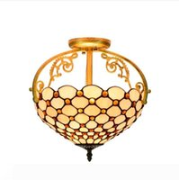 빛 매달려 티파니 스타일 천장 조명기구 램프 샹들리에 스테인드 글라스 램프 화이트 골동품 빈티지 장식 천장