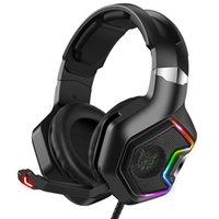 ONIKUMA K10Pro 3.5mm Stereo Jogo Professional Headset 3D Wired Gaming fones de ouvido RGB sobre a orelha com microfone para Laptop computador gamer fone de ouvido
