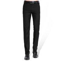 Herren Schwarzer Anzug Separate Pant Flat-Front Gerade schmalere Geschäft: Frauen Hosen Thin Büro tragen festes Kleid Hosen CX200728