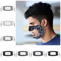 Taubstummen Transparent Face Mask Waschbar wiederverwendbare Masken Antistaub Antifog Earloop Klar Designer Masken 7styles RRA3328