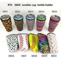 2020 Leopard-Druck-Regenbogen-Einhorn Baseball Softball-Kaktus-Wasserflasche Abdeckung Neopren Insulated Sleeve Beutel-Kasten-Beutel für 30 Unzen Tumbler Cup