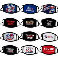 الأسهم الأمريكية 2020 أقنعة الانتخابات ترامب حملة مصمم الوجه قناع الوجه الأسود قابلة لإعادة الاستخدام ترامب طباعة واقية مكافحة الغبار الفم الغلاف