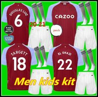 Kit enfants adultes 20 21 Aston Villa FOOTBALL HOME 2020 2021 Samatta Targett Grealish Wesley Douglas Luiz MCGIM EL GHAZI