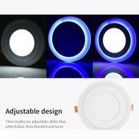 Iluminação Interior Início Downlights 6 + 3W a superfície montada LED Painel de luz Dimmable Teto Downlight Lâmpada de parede azul