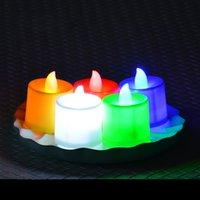 متعدد الألوان ضوء شمعة الالكترونية LED محاكاة ضوء شمعة عيد ميلاد زفاف عديمة اللهب وميض شمعة البلاستيك الديكور المنزلي CY BH1905