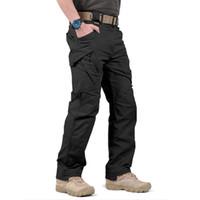 Pantaloni da uomo Pantaloni da uomo tattici Pantaloni da carico Uomo Swat Combat Army Pantaloni maschili Casual Mare tasche Pantaloni in cotone elasticizzato