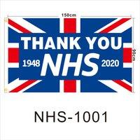 UK danke Flagge Anpassung NHS, 3X5FT Flaggen kleine Menge Großhandel Polyester-Faser mit zwei Ösen Siebdruck