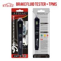 원래 브레이크 유체 타이어 압력 2IN1 유체 테스터 자동차 진단 도구 무료 배송 5 개의 LED 브레이크 테스트 도구