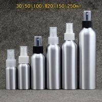 30 ml / 50 ml / 100 ml / 120ml / 150ml Portable Aluminium Vaporiser Parfum Bouteilles vide Pompe Rechargeables Atomiseur Mist Maquillage Voyage Container