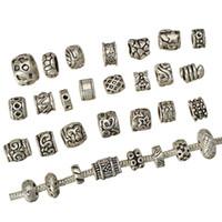 Großhandel Korn-DIY Misch Charme-Armband-große Loch-Runde Tier Herz-Stern-Silber-Metallschmucksache-Zusatz-freies Verschiffen 145pcs