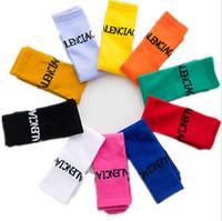 Babysocken Kinder-Süßigkeit-Farben-Strümpfe Mädchen Buchstabedruck Knee High-Bein-Wärmer Kinder Socken Soft beiläufige Säuglings Socken Lange Socken LSK461